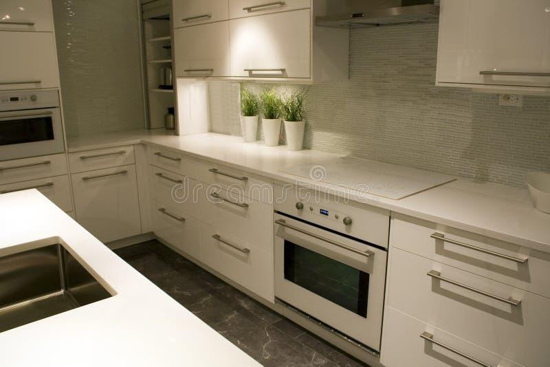 Modern kitchen interiors design royalty free stock photo