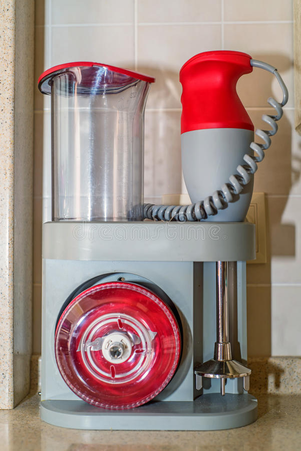 Modern kitchen mixer tool on shelf stock images