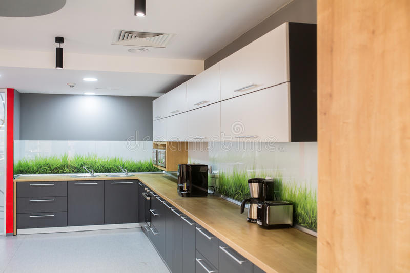 Download Modern Kitchen In Office Building Stock Photo - Image: 88447948