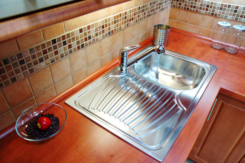 Modern kitchen unit royalty free stock photos