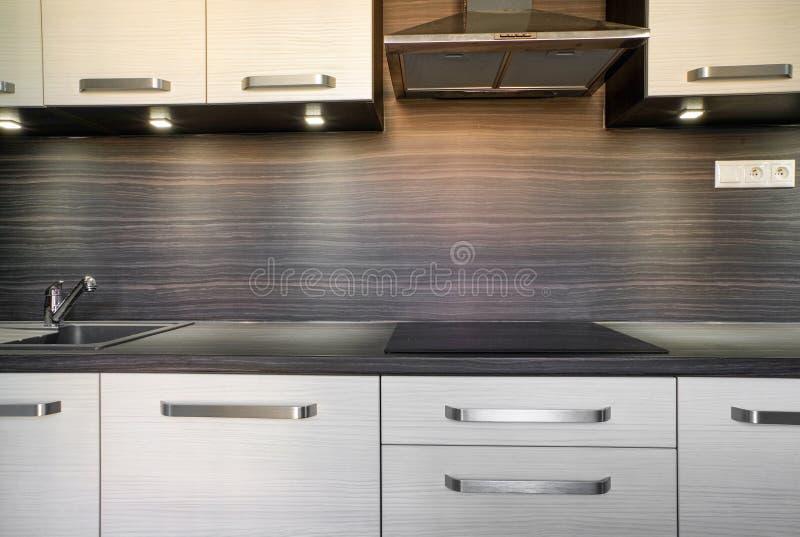 Modern kitchen unit stock photography