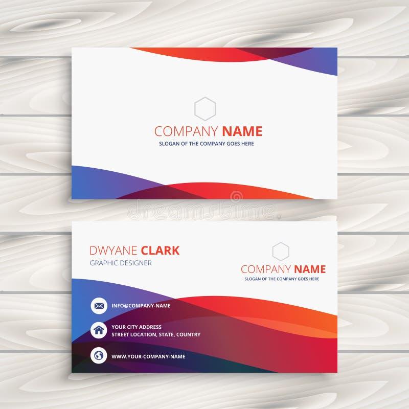 Modern kleurrijk adreskaartjeontwerp vector illustratie