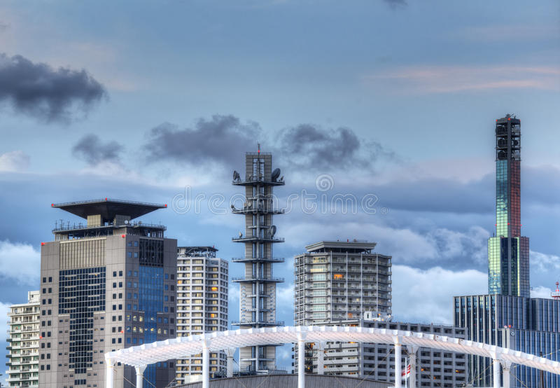 Modern Kobe Skyline Royalty Free Stock Image