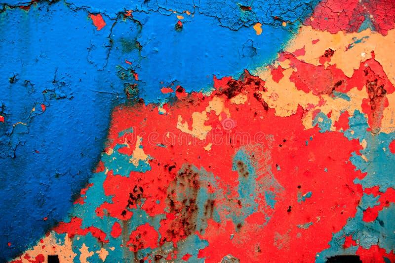 Modern konst abstrakt målning med olje- målarfärger arkivbild