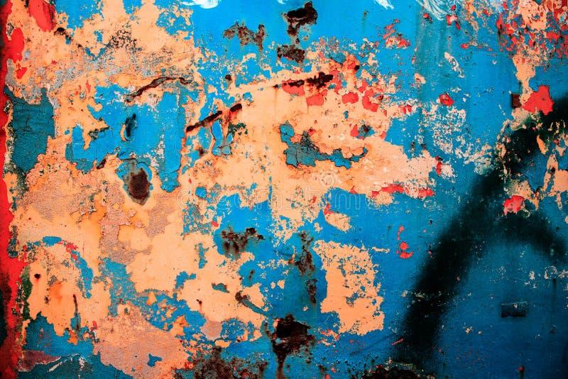 Modern konst abstrakt målning med olje- målarfärger arkivfoto