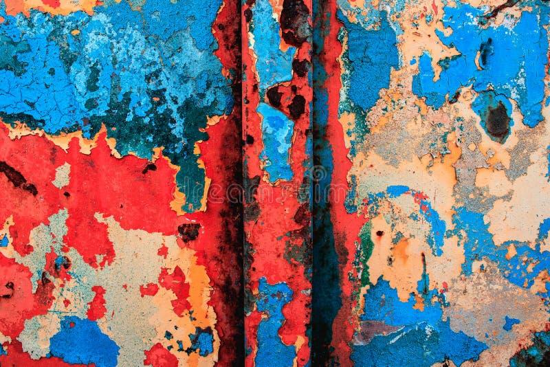Modern konst abstrakt målning med olje- målarfärger royaltyfri bild