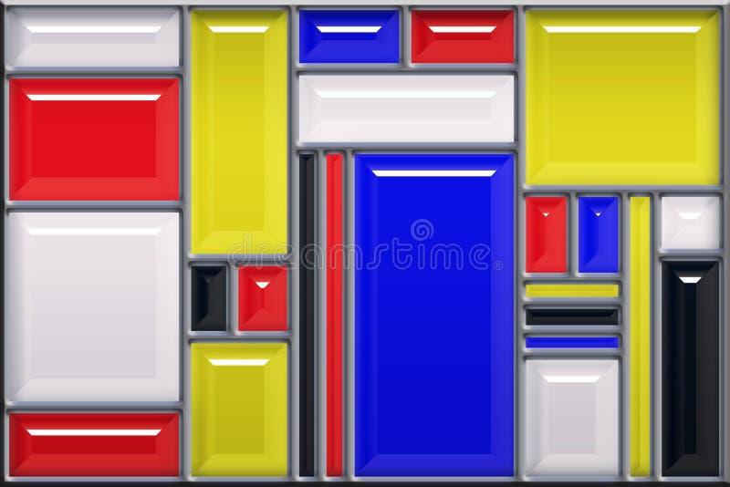 Download Modern Konstmålat Glassstil Stock Illustrationer - Illustration av stil, bevelen: 27276455