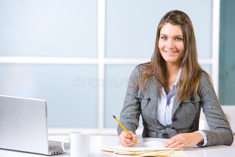 modern kontorskvinna för affär royaltyfria foton