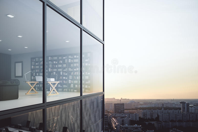 Modern kontorsyttersida/inre royaltyfri illustrationer