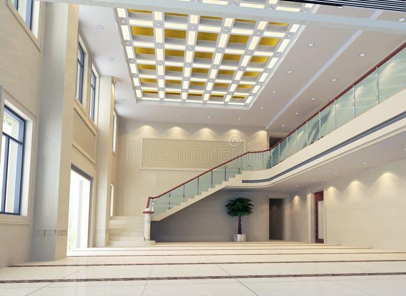 modern korridor för korridor 3d royaltyfri illustrationer