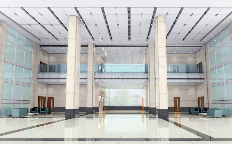 modern korridor för korridor 3d stock illustrationer