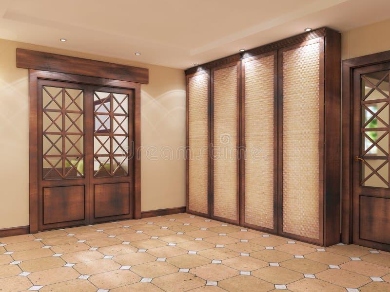 Modern korridor-korridor på engelska stil stock illustrationer