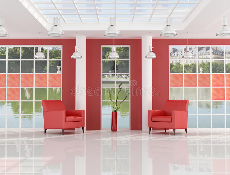 modern korridorhotelllyx stock illustrationer