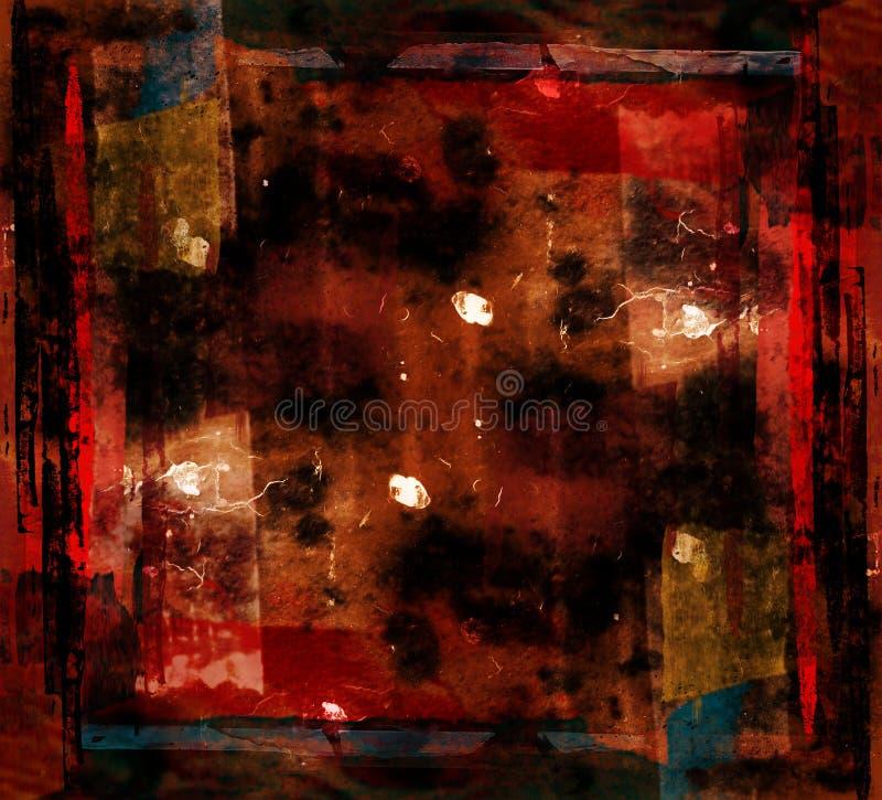 Modern kunst grunge kunstwerk stock illustratie