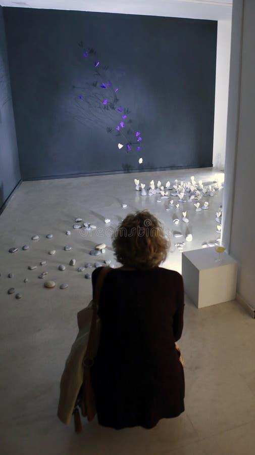Modern kunsttentoongesteld voorwerp in Mallorca royalty-vrije stock foto