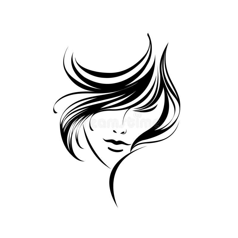 modern kvinna för härlig frisyr vektor illustrationer