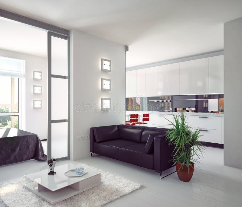 Modern lägenhet royaltyfri illustrationer