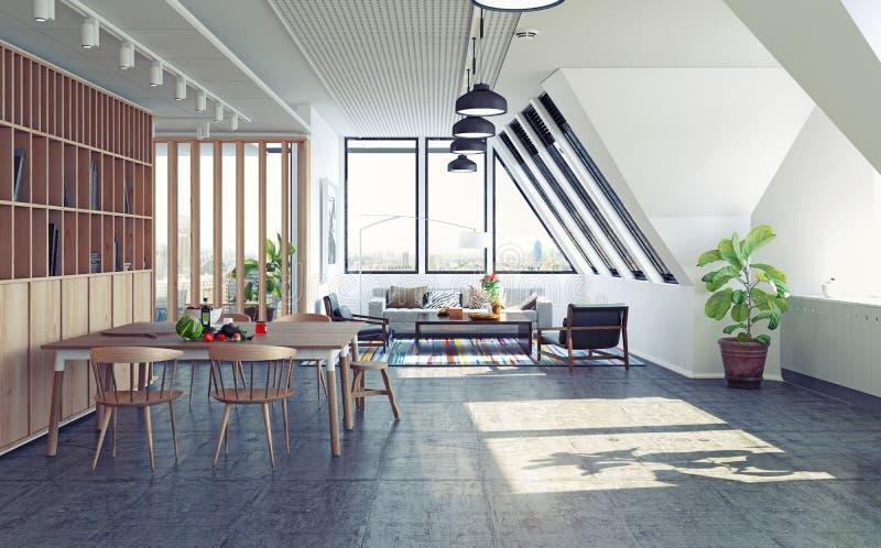Modern lägenhetdesign royaltyfri illustrationer