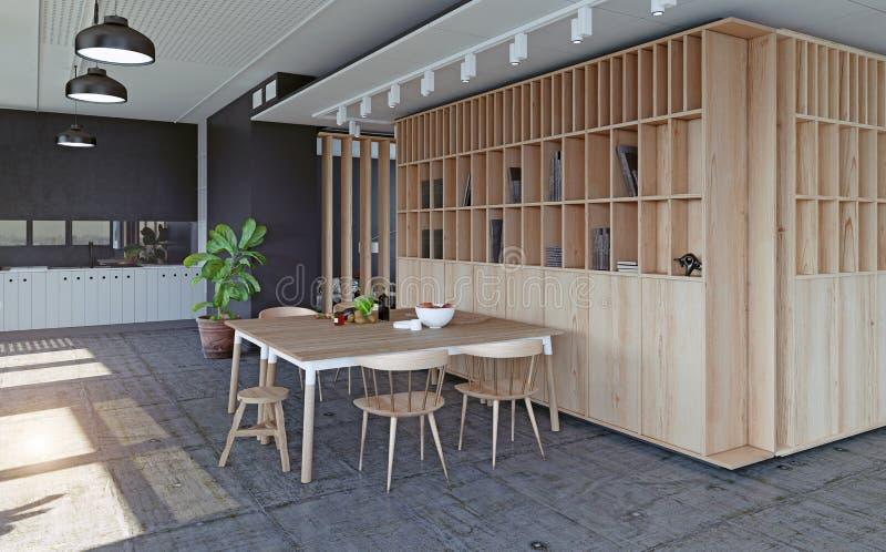 Modern lägenhetdesign stock illustrationer