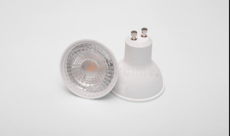 Modern lamp led spotlight. Modern LED lamp spotlight GU10 type royalty free stock photography