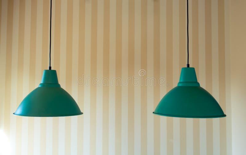 Modern lampa för tak två för inregarnering royaltyfria foton
