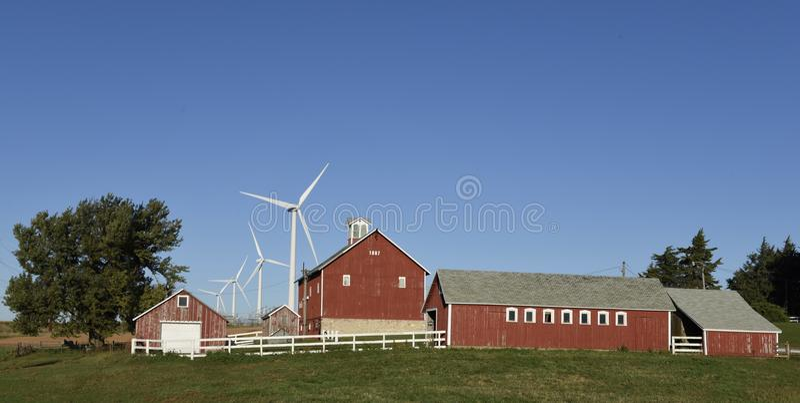 Modern landbouwbedrijf royalty-vrije stock foto's