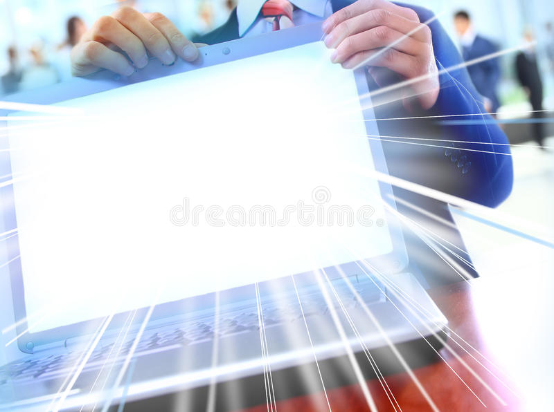 Modern laptoop stock photo