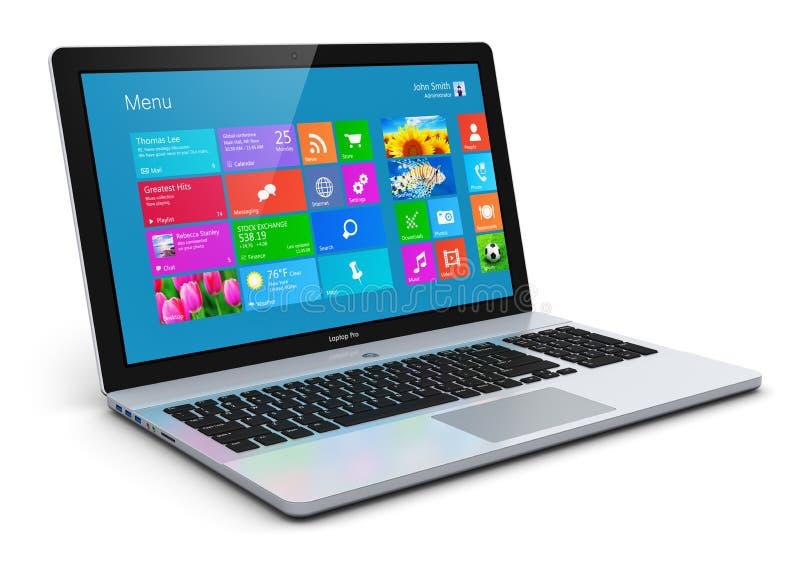 Modern laptop vector illustration