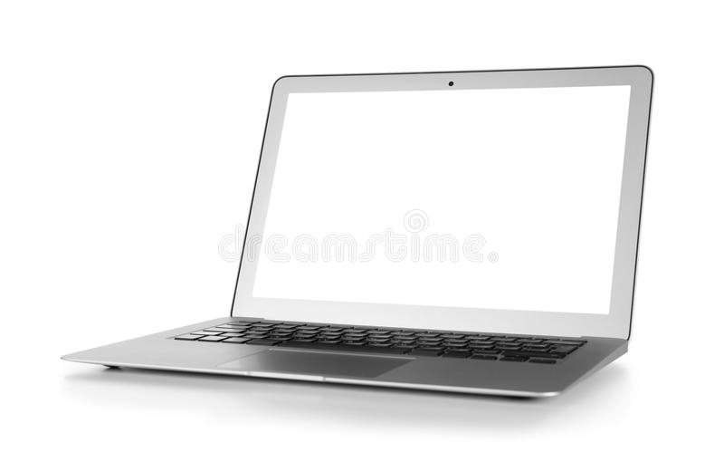 Modern laptop isolated stock photos