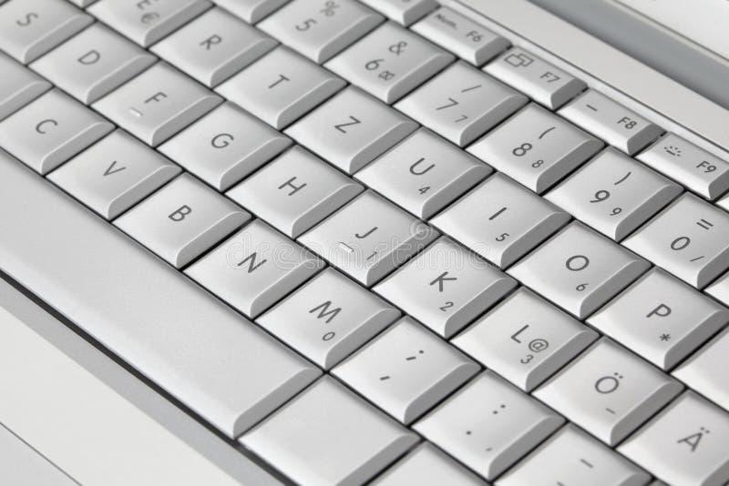 Modern laptop keyboard, closeup