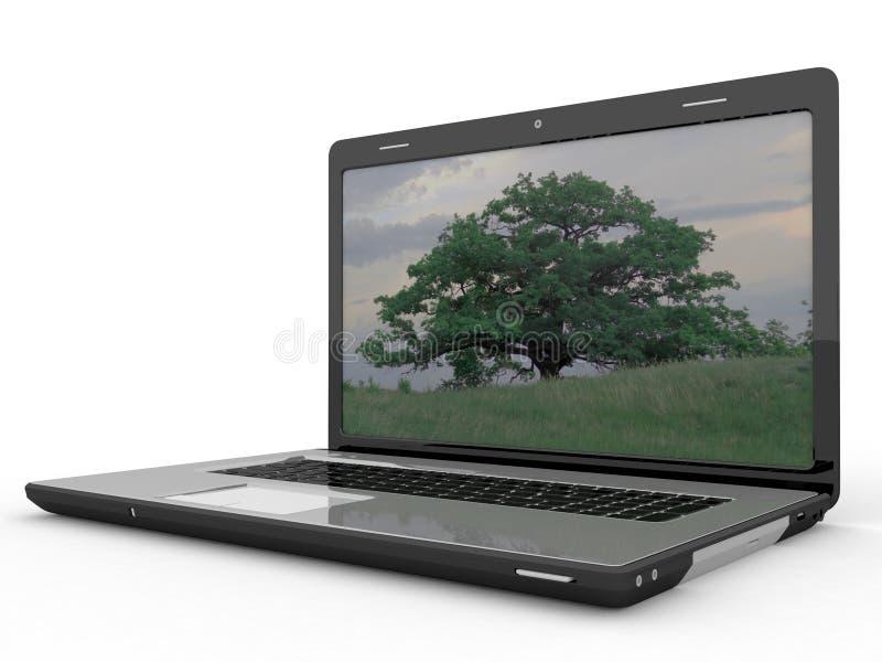 Download Modern laptop stock illustration. Illustration of open - 31780685