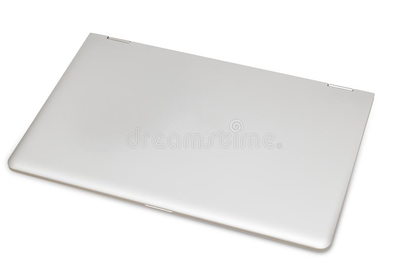 Modern laptop on white background. Shot of modern laptop on white background royalty free stock photos