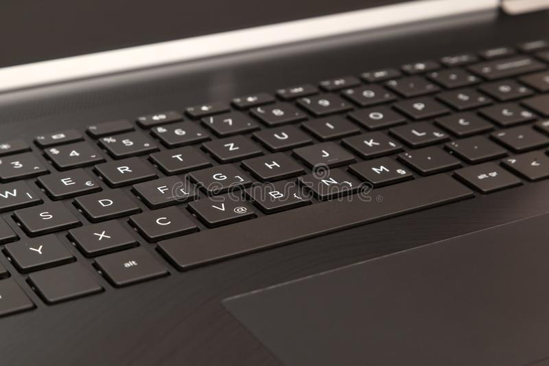 Modern laptop on white. Laptop isolated on white background royalty free stock image