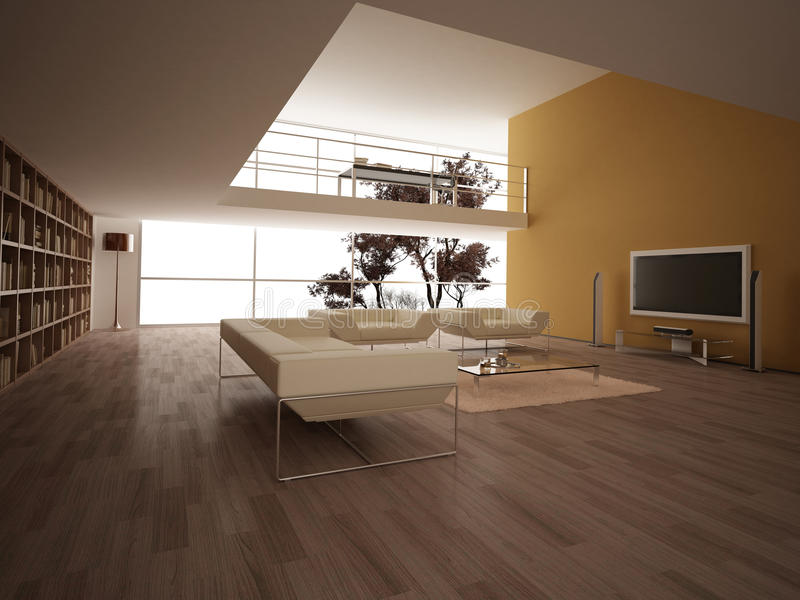 Download Modern Large Living-room. Royalty Free Stock Photos - Image: 24664308