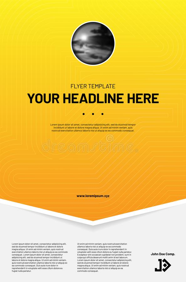 Modern layout template for your flyer etc royalty free illustration
