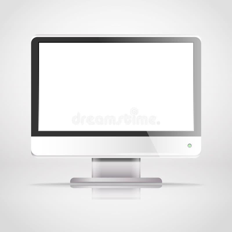 Download Modern lcd monitor stock vector. Image of desktop, clean - 32569272