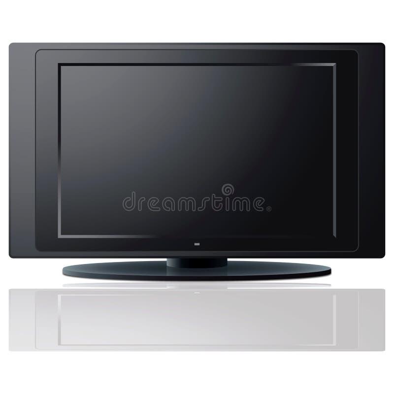 Modern LCD TV set royalty free illustration