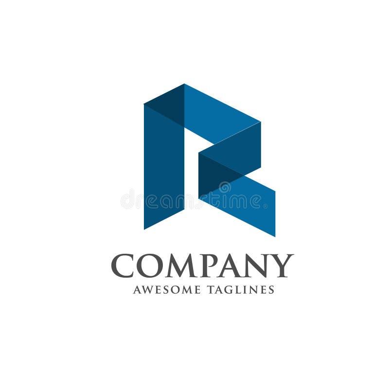 Modern letter R logo concept. Elegant flat modern letter R logo concept stock illustration