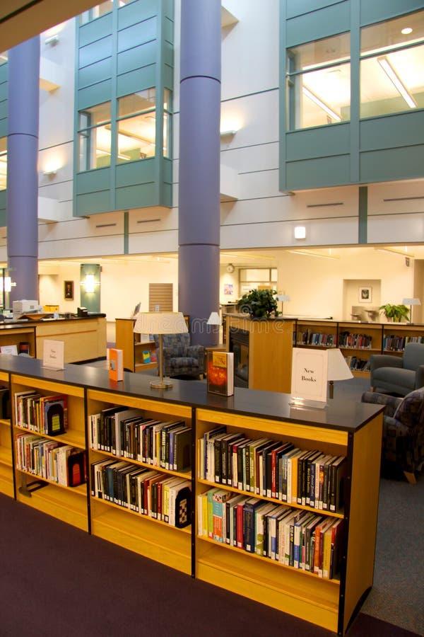 Modern library stock photos