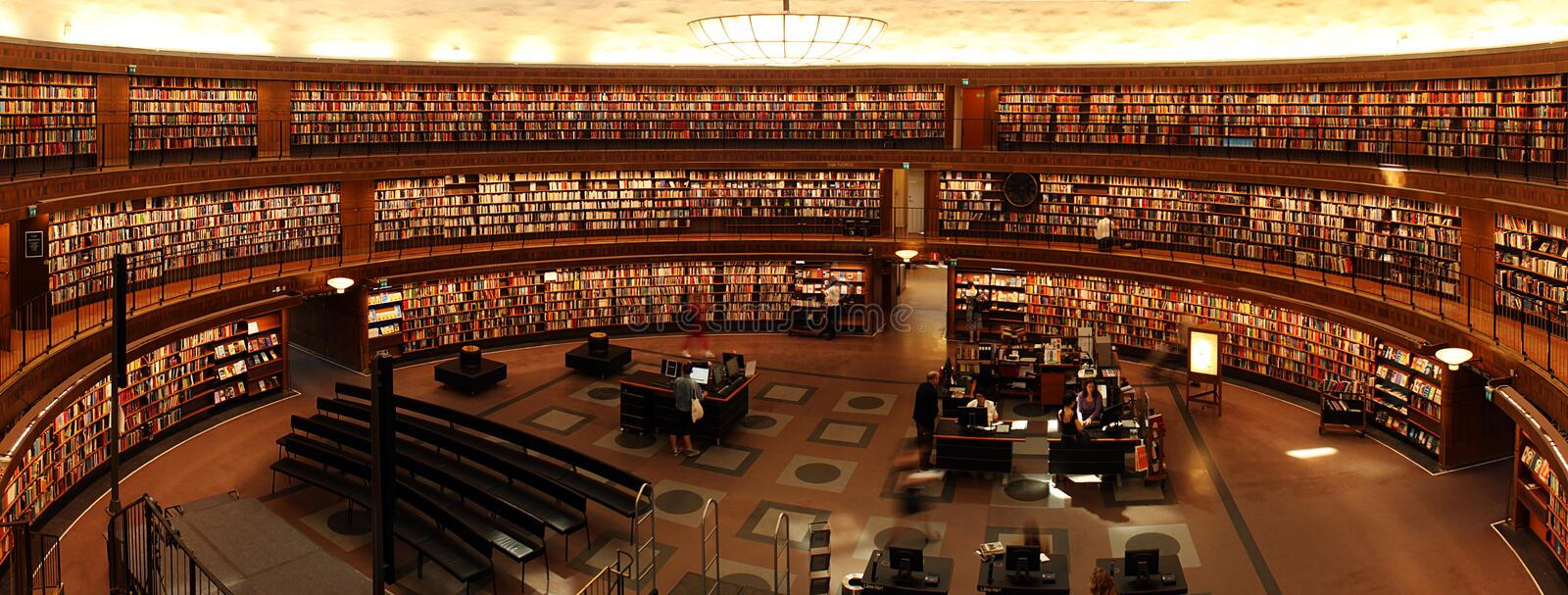 Modern library reading room royalty free stock photography