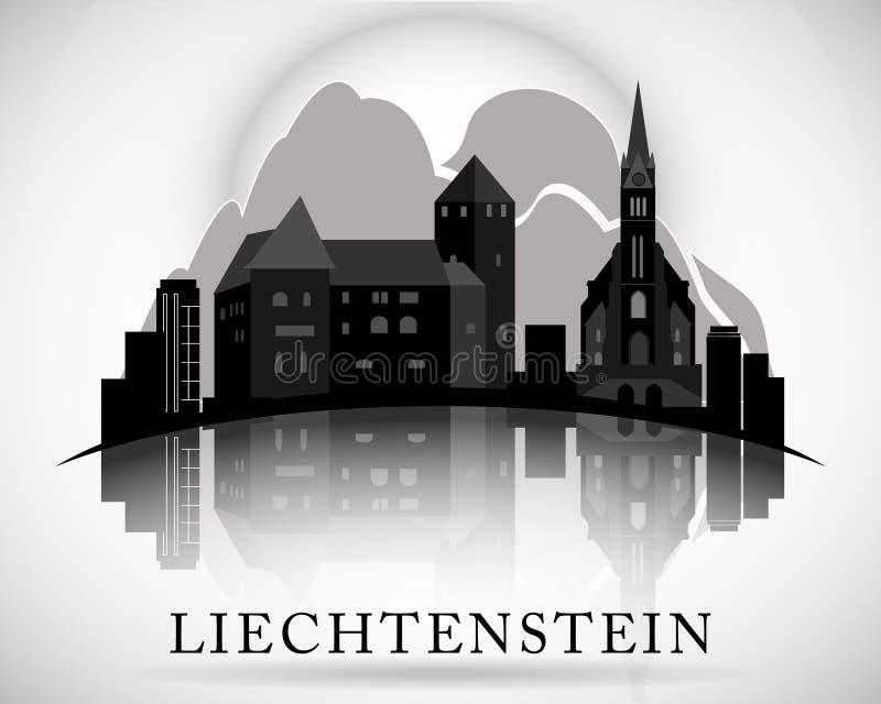 Modern Liechtenstein Skyline Design. Vector illustration royalty free illustration
