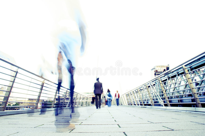 Modern Life Stress. Blur effect showing the stress of modern life stock photo