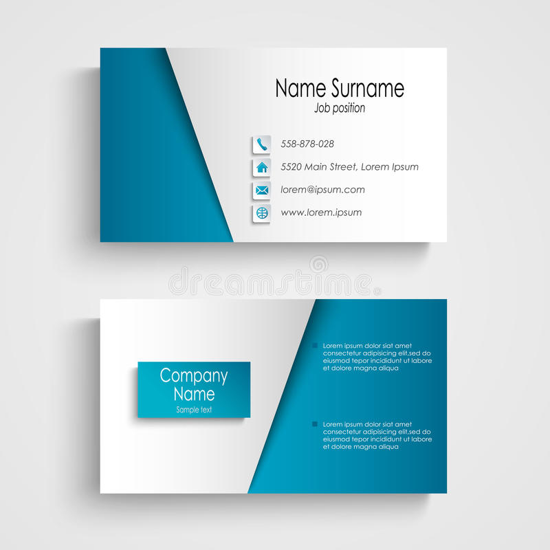 Modern light blue business card template stock illustration download modern light blue business card template stock illustration illustration of background card flashek Gallery