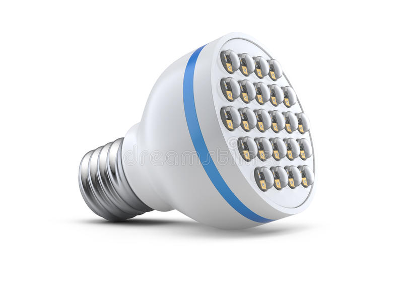 Modern light-emitting diode lamp. On a white background stock illustration