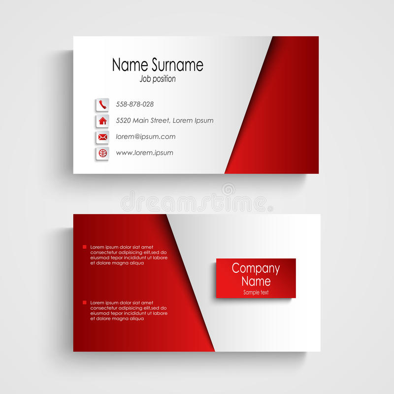 Modern light red business card template stock vector illustration download modern light red business card template stock vector illustration of company retail flashek Gallery