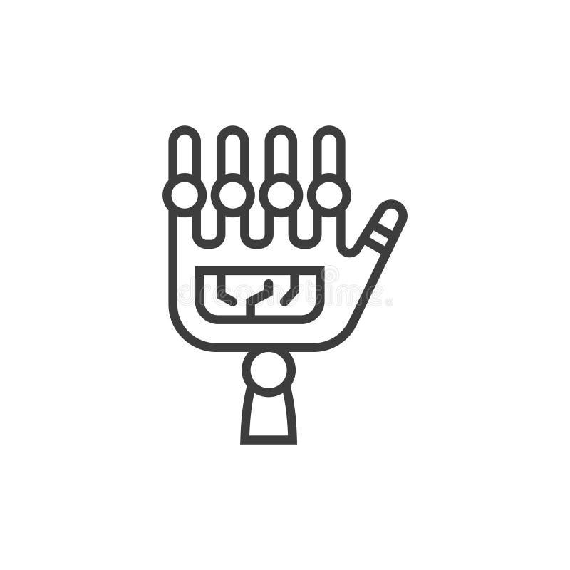 Robotic Surgery Line Icon. Modern line icon with modern surgery technologies equipment. Symbol of future medicine vector illustration