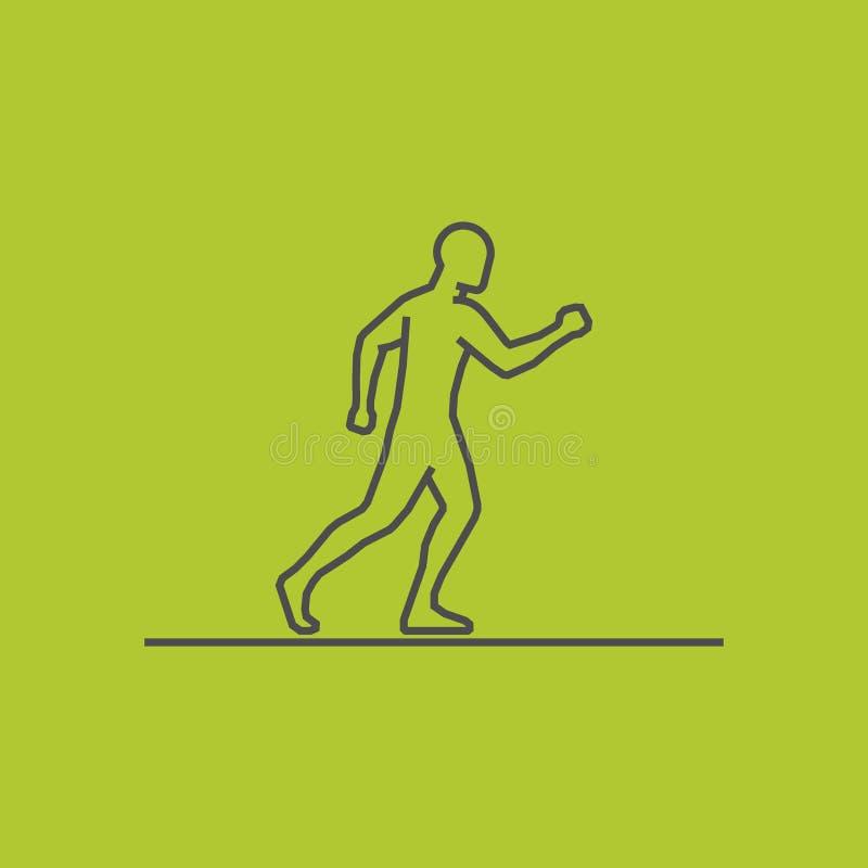 Modern line running icon. Vector silhouette of runners. stock illustration