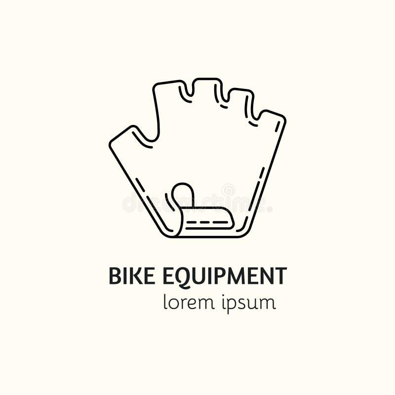 Modern linjär mall för logotyp för stilsportutrustning stock illustrationer