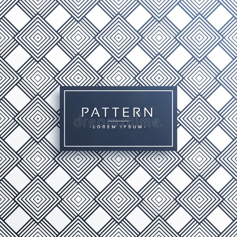Modern linje modellbakgrund för diagonala fyrkanter stock illustrationer