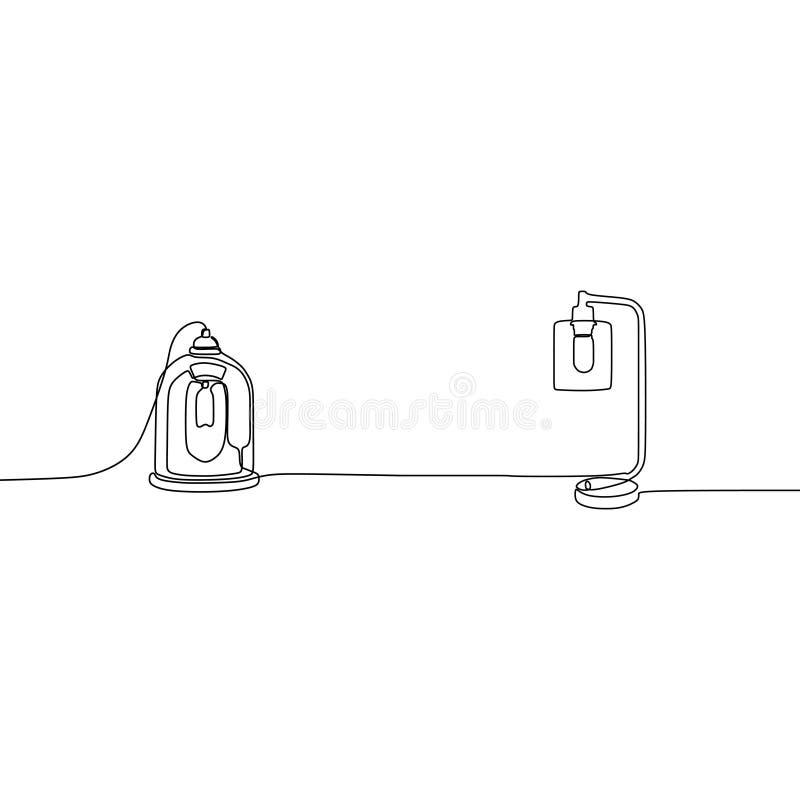modern linje tabelllampor för stearinljuslampa en med lampskärmar ocks? vektor f?r coreldrawillustration Ställ in av isolerade sv stock illustrationer